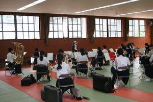 吹奏楽部練習の写真
