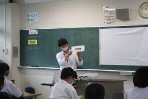実習生の授業の写真