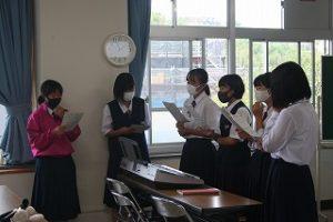 合唱練習の写真