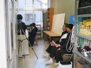 放送による選挙活動の写真