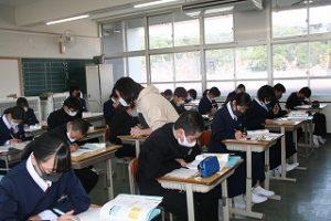 数学の授業中の写真