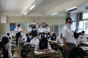 学校訪問の写真